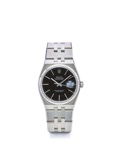ROLEX | REF 17014 OYSTERQUARTZ DATE, A STAINLESS STEEL CENTER SECONDS WRISTWATCH WITH DATE AND BRACELET CIRCA 1990