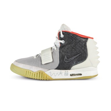 View 3. Thumbnail of Lot 38. Nike Air Yeezy 2 'Mismatch' Sample Signed by Kanye West | Size 12.