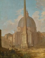 A capriccio view of Santa Maria di Montesanto and the Flaminio obelisk, Piazza del Popolo, Rome