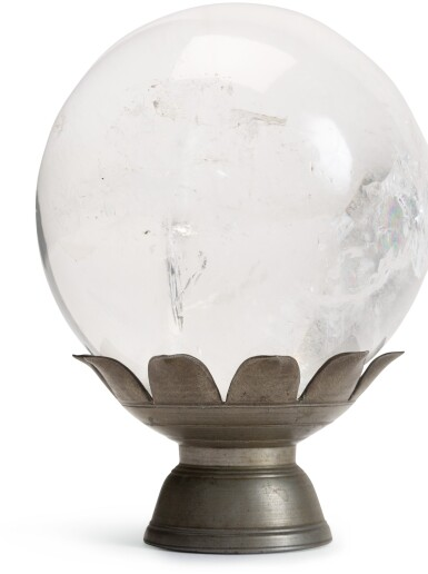 View 3. Thumbnail of Lot 225. A rock crystal sphere.