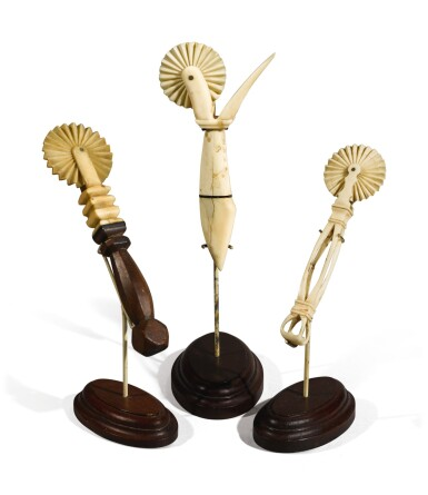 View 2. Thumbnail of Lot 365. Three American Pie Crimpers, circa 1850.