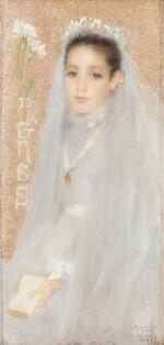 LUCIEN LÉVY-DHURMER | PORTRAIT OF AGNÈS IN HER COMMUNION DRESS