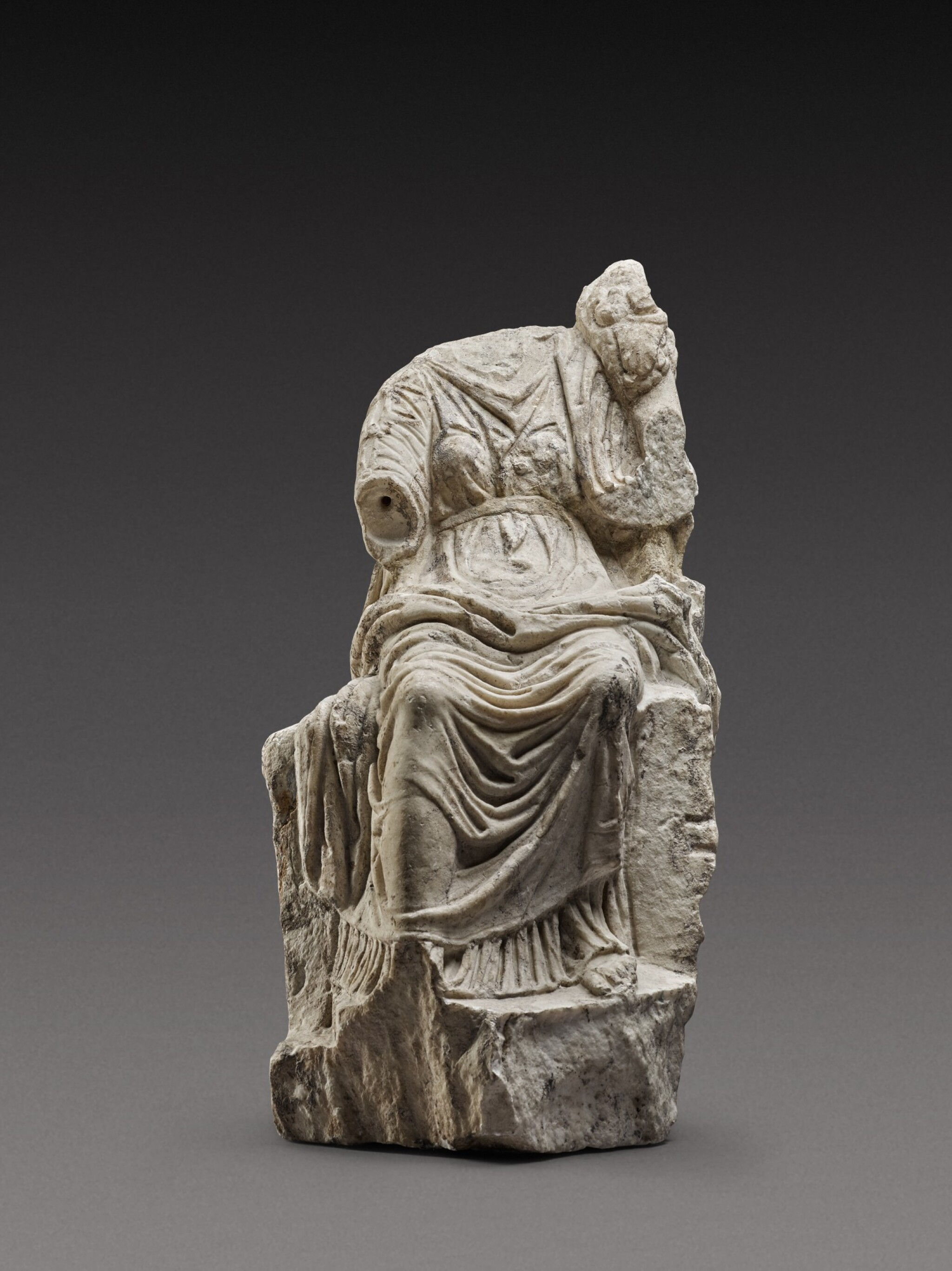 View full screen - View 1 of Lot 61. A Roman Marble Figure of Fortuna, circa 2nd Century A.D..