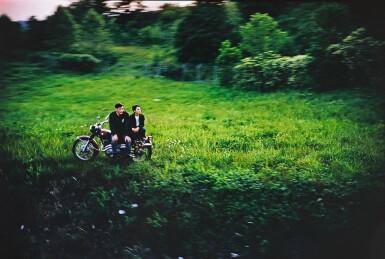 View 1. Thumbnail of Lot 31. PAUL FUSCO   RFK FUNERAL TRAIN (MOTORCYCLE).