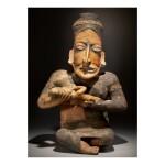 JALISCO SEATED FEMALE WITH INFANT, AMECA-ETZATLÁN STYLE PROTOCLASSIC, CIRCA 100 BC-AD 250
