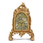 A GEORGE III GILTWOOD BRACKET CLOCK, MID-18TH CENTURY