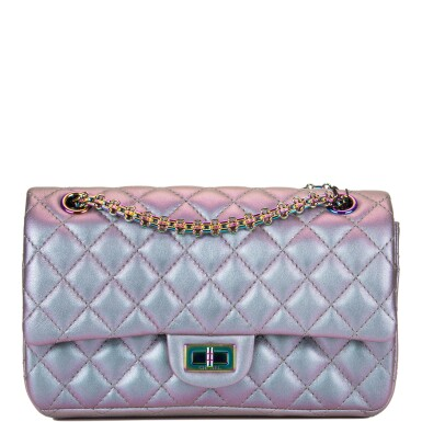 Chanel Light Purple Iridescent Quilted Reissue 2.55 Bag 225 of Iridescent Goatskin with Aged Iridescent Hardware