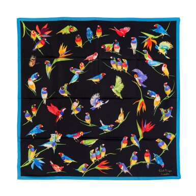 View 3. Thumbnail of Lot 127. PATEK PHILIPPE   A PAIR OF SILK SCARVES .