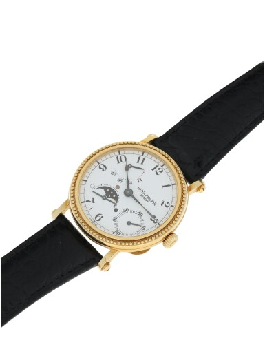 View 5. Thumbnail of Lot 164. PATEK PHILIPPE   REFERENCE 5015  A YELLOW GOLD AUTOMATIC WRISTWATCH WITH MOON PHASES AND POWER RESERVE, MADE IN 1996.