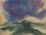 Landschaft unter einer grossen, blauen Wolke (Landscape under a Big Blue Cloud)