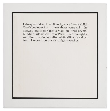 View 3. Thumbnail of Lot 20. SOPHIE CALLE | WEDDING DRESS (FROM AUTOBIOGRAPHICAL STORIES).