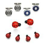 Cartier | Two pairs of enamel cufflinks || Deakin & Francis | Enamel dress-set