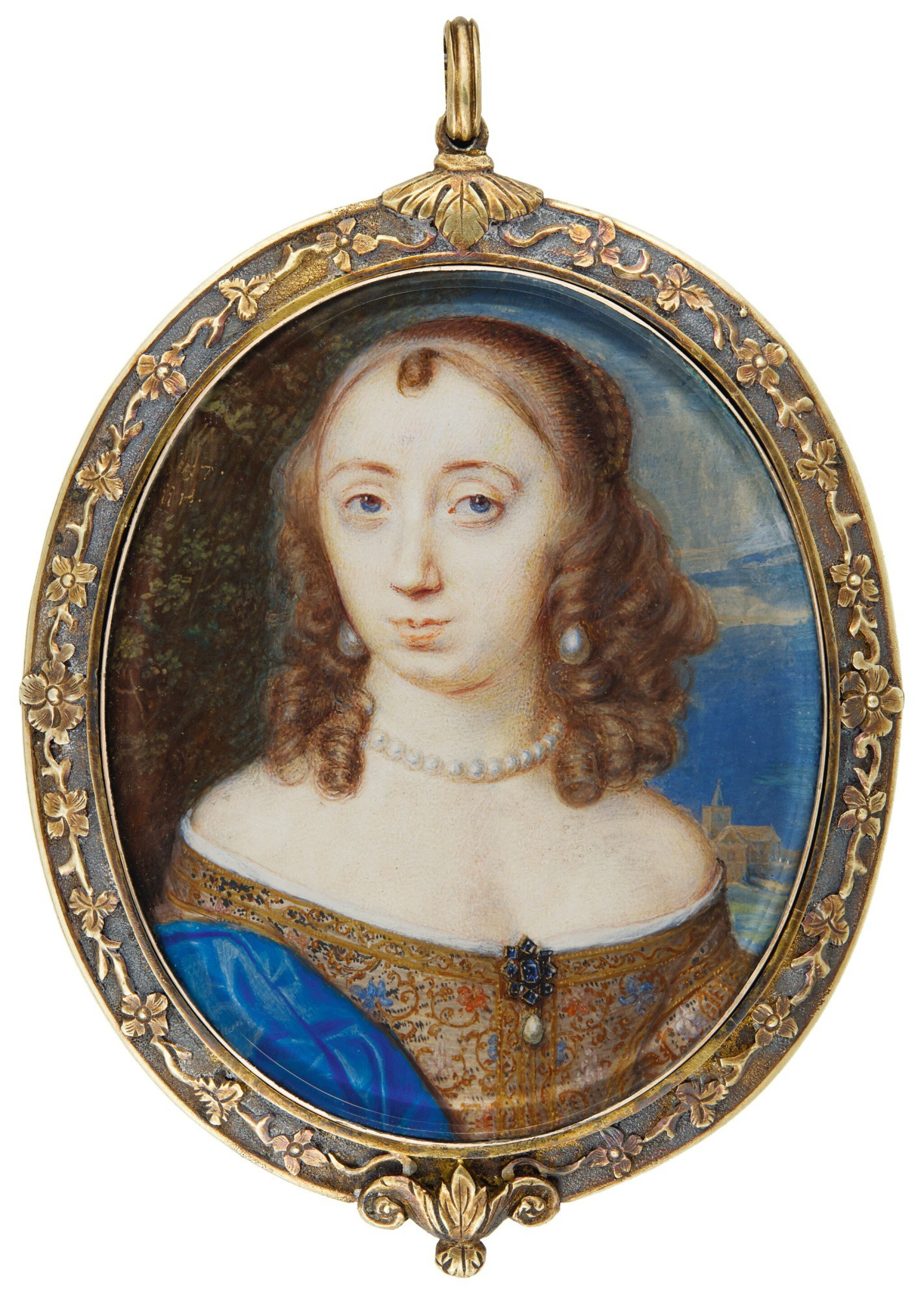 View full screen - View 1 of Lot 216. JOHN HOSKINS | PORTRAIT OF A LADY, TRADITIONALLY IDENTIFIED AS LADY ANNE FANSHAWE (1625-1680).