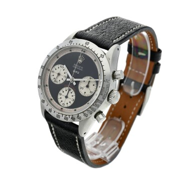 View 3. Thumbnail of Lot 280. Reference 6239 'Paul Newman' Daytona  Retailed by Linz Brothers: A stainless steel chronograph wristwatch, Circa 1968 .