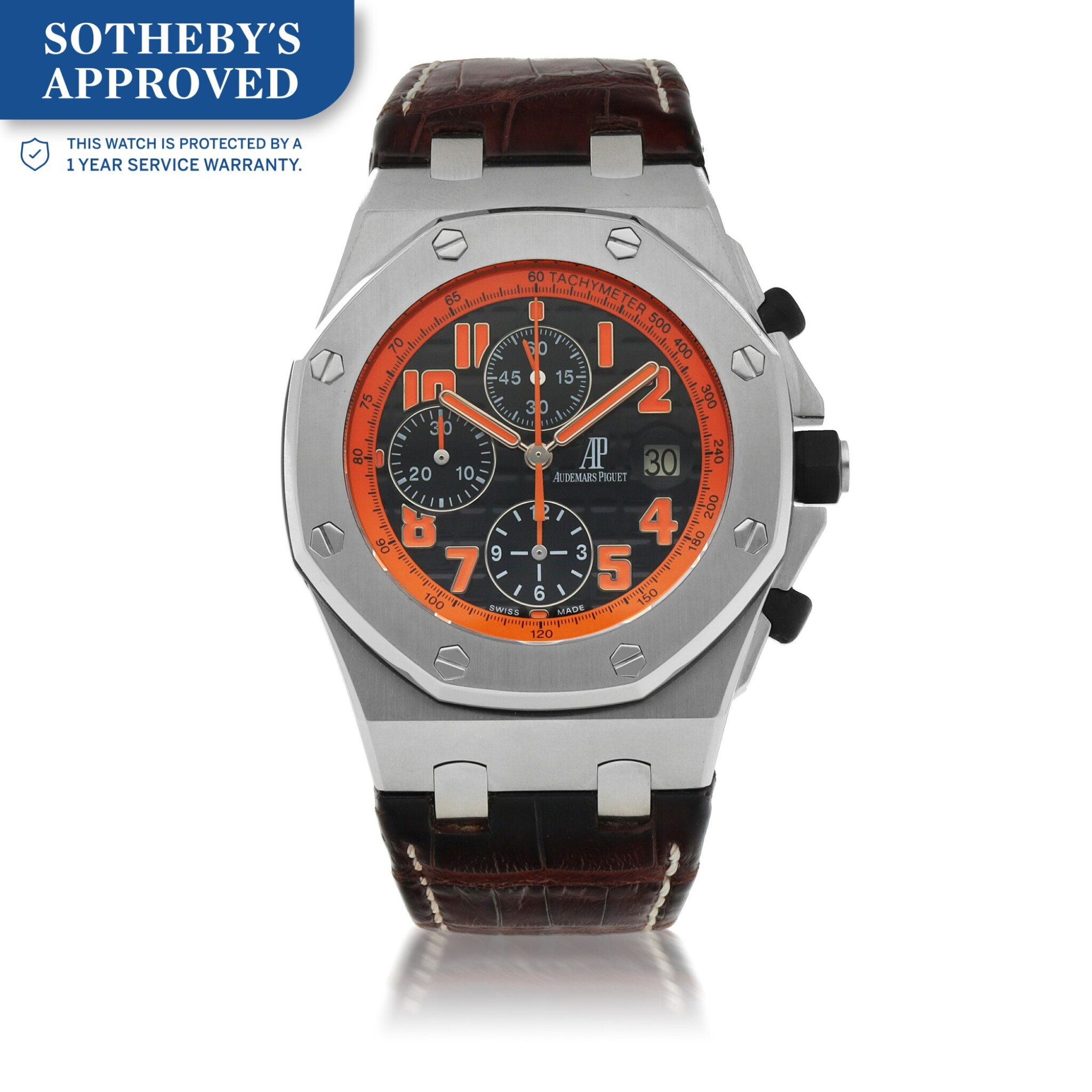View full screen - View 1 of Lot 654.  'VOLCANO' ROYAL OAK OFFSHORE, REF 26170ST.00.D101CR.01  STAINLESS STEEL CHRONOGRAPH WRISTWATCH WITH DATE CIRCA 2013.
