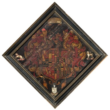 THE HATCHMENT OF THOMAS HABINGTON OF HINDLIP (1560-1647), 17TH CENTURY