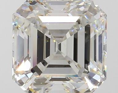 A 3.05 Carat Square Emerald-Cut Diamond, J Color, VVS1 Clarity