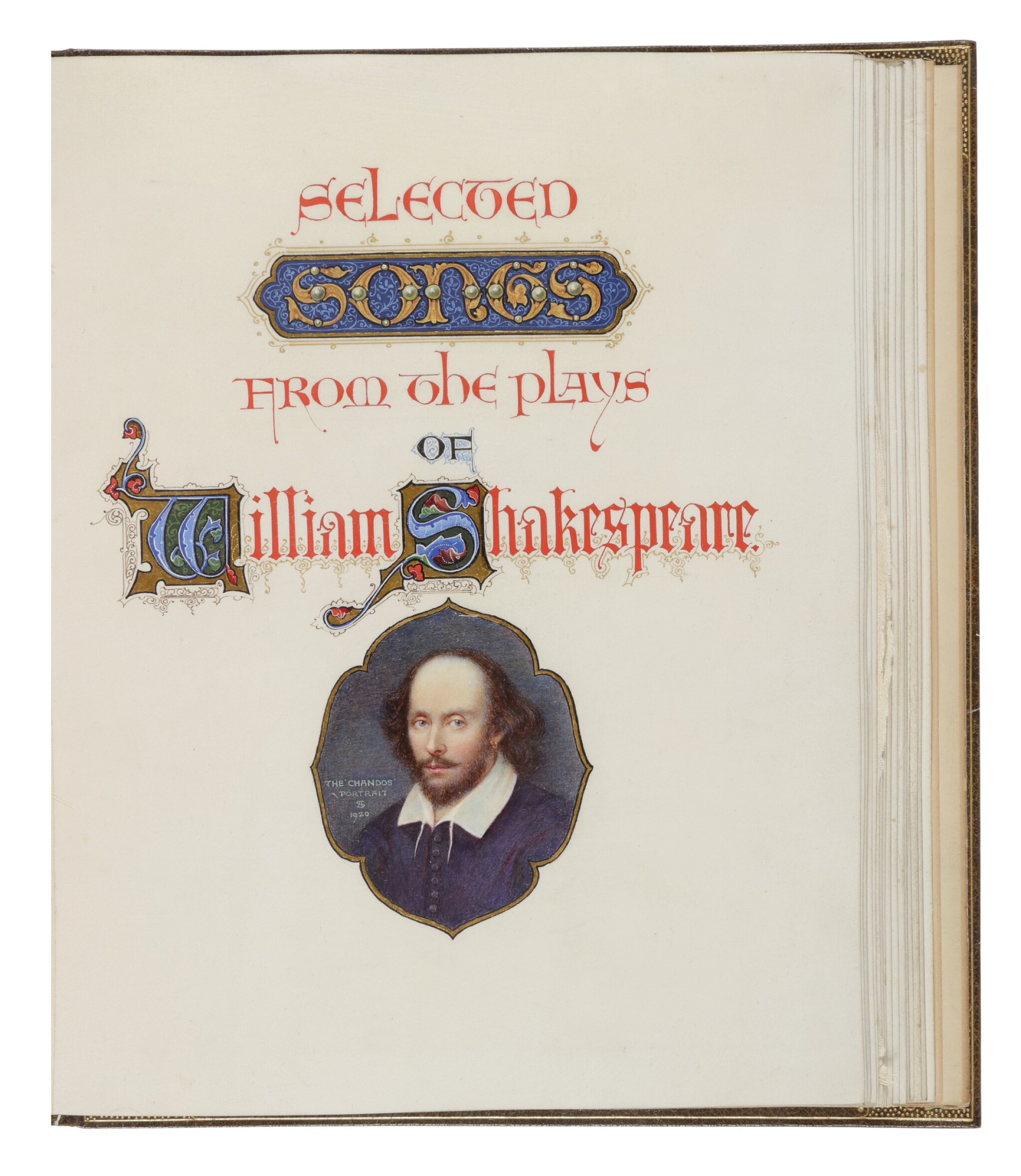 View full screen - View 1 of Lot 258. Shakespeare, William — Alberto Sangorski [illuminator and calligrapher] | A sumptuously illuminated work, celebrating some of Shakespeare's best-loved verses .