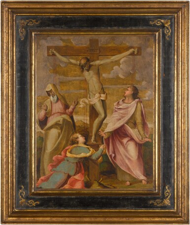 View 2. Thumbnail of Lot 3. FLORENTINE SCHOOL, 16TH CENTURY | THE CRUCIFIXION.