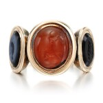 Carnelian and onyx intaglio ring, late 18th century