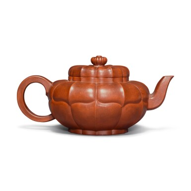 View 3. Thumbnail of Lot 23. A Yixing teapot and cover, Qing dynasty.