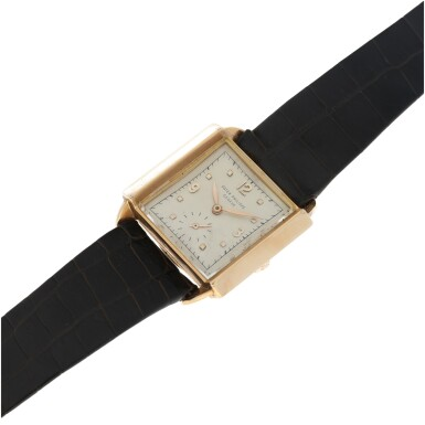 View 6. Thumbnail of Lot 141. REFERENCE 2425 'SKATER' A PINK GOLD SQUARE WRISTWATCH, MADE IN 1947.