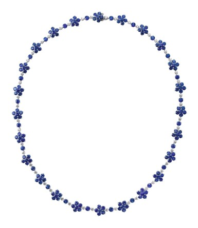 View 1. Thumbnail of Lot 73. GRAFF | SAPPHIRE AND DIAMOND NECKLACE.