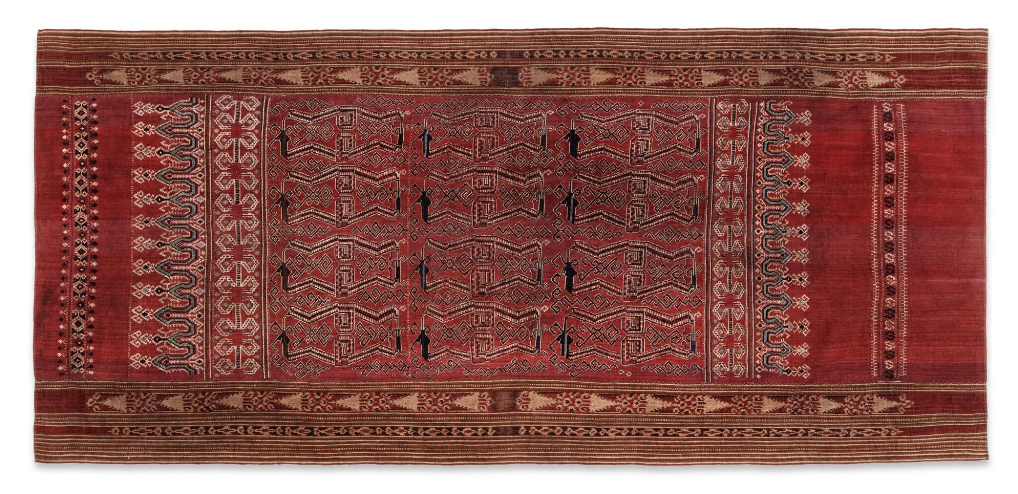 View full screen - View 1 of Lot 6. Un textile cérémoniel pua et trois nattes, Indonésie | A ceremonial cloth pua and three mats, Indonesia.