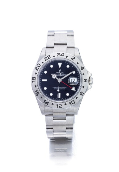 ROLEX | EXPLORER II REF 16570T, A STAINLESS STEEL AUTOMATIC DUAL TIME ZONE WRISTWATCH WITH DATE, 24-HOUR INDICATION AND BRACELET CIRCA 2003