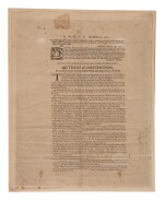 Gates, Horatio. A very rare broadside printing of Gates's Articles of Convention with British General Burgoyne after the American victory at Saratoga