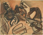 PERCY WYNDHAM LEWIS | MUSICIANS AND FIGURES DANCING