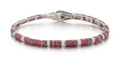 RUBY AND DIAMOND BRACELET, MICHELE DELLA VALLE | 紅寶石 配 鑽石 手鏈, Michele della Valle