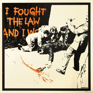 BANKSY   I FOUGHT THE LAW