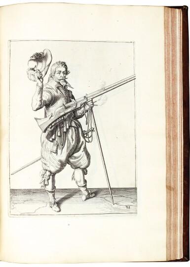 View 2. Thumbnail of Lot 218. Gheyn, Maniement d'Armes, 1608 [and] Breen, De Nassausche Wapen-Handlinge, 1618 .