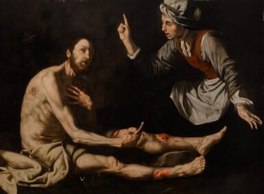 JUSEPE DE RIBERA, CALLED LO SPAGNOLETTO | JOB ON THE ASH HEAP