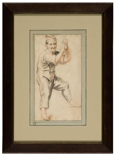 View 2. Thumbnail of Lot 24. Study of a man holding a bell rope.
