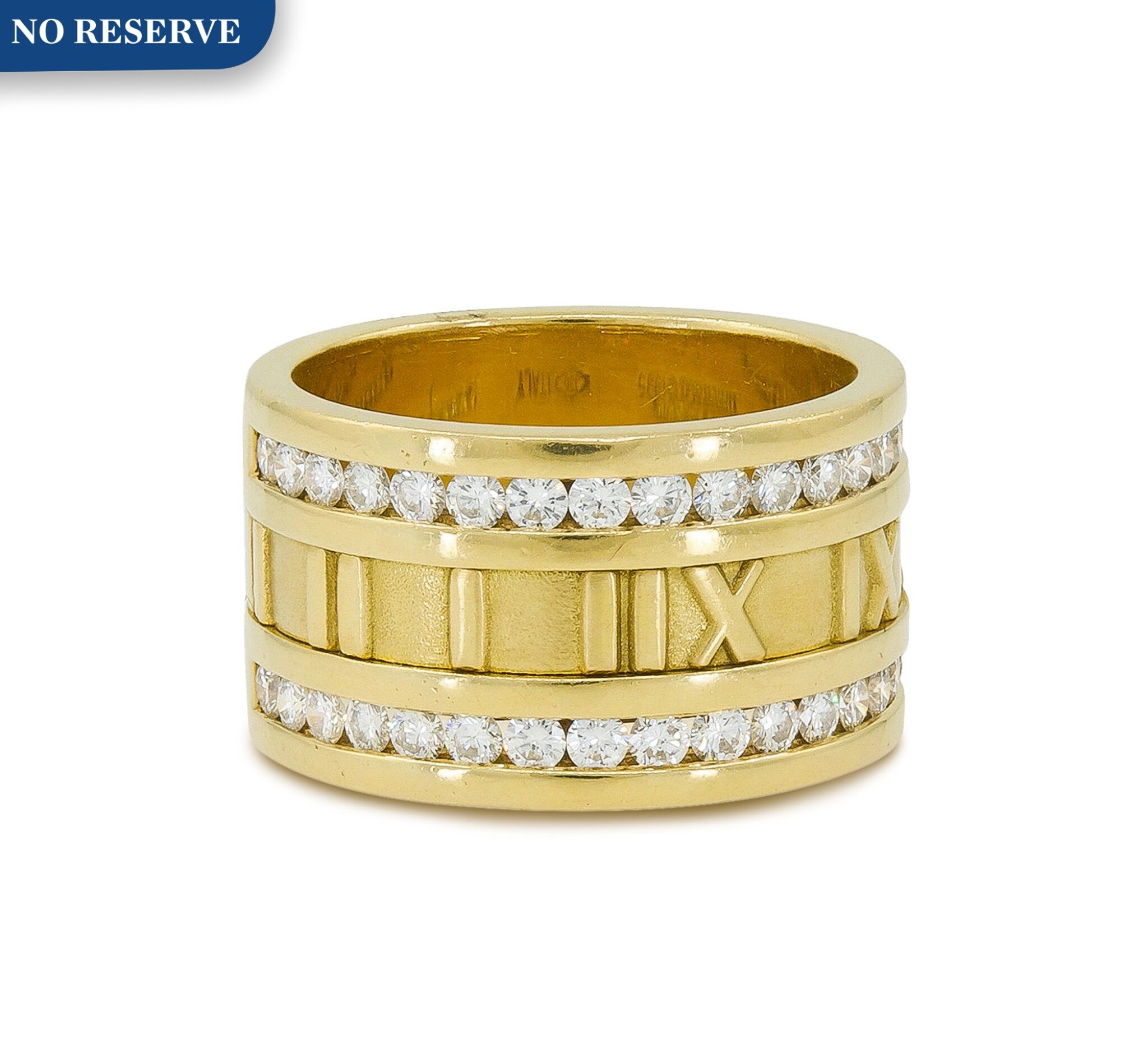 View full screen - View 1 of Lot 17. TIFFANY & CO.   GOLD AND DIAMOND 'ATLAS' RING.