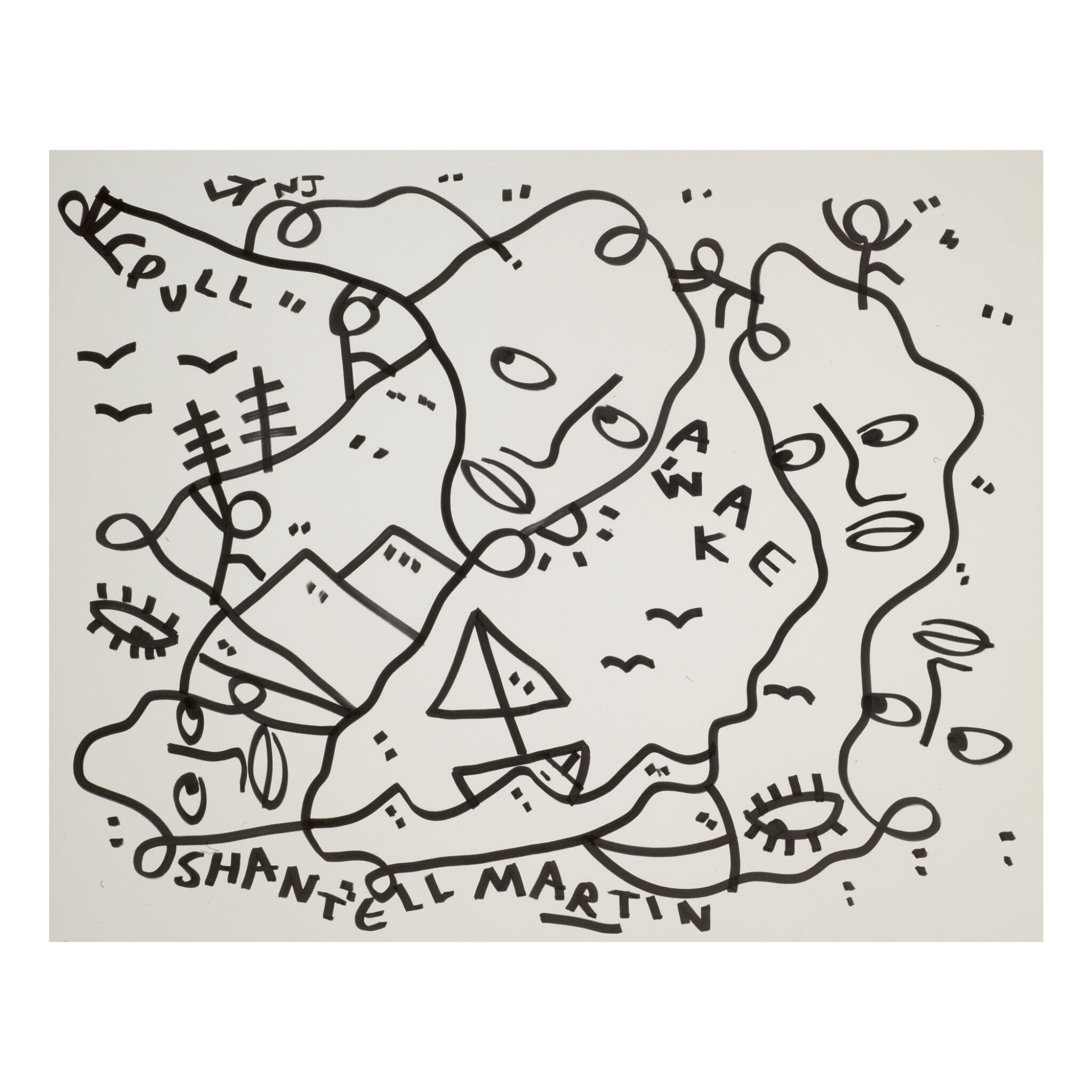View full screen - View 1 of Lot 58. SHANTELL MARTIN   LINES.