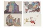 Ursula (U. Schultze-Bluhm) | Leck Schnell, Monsalvatsch, Errinerung an Berlin, Sans Titre [4 oeuvres]