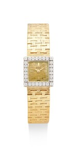 PIAGET   REFERENCE 3811 A6, A YELLOW GOLD AND DIAMOND-SET BRACELET WATCH, CIRCA 1960