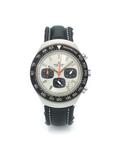 BREITLING | REF 7104 LONG PLAYING, A STAINLESS STEEL CHRONOGRAPH WRISTWATCH WITH DATE CIRCA 1970