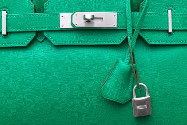 View 7. Thumbnail of Lot 346. Menthe Birkin 30cm in Chèvre Mysore Leather with Palladium Hardware, 2013.