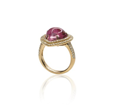 View 3. Thumbnail of Lot 17. Pink tourmaline and diamond ring, Michele della Valle.