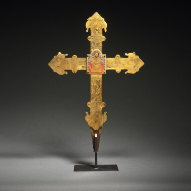 View 2. Thumbnail of Lot 41. Spanish, Burgos, late 14th/ early 15th century | Processional Cross.