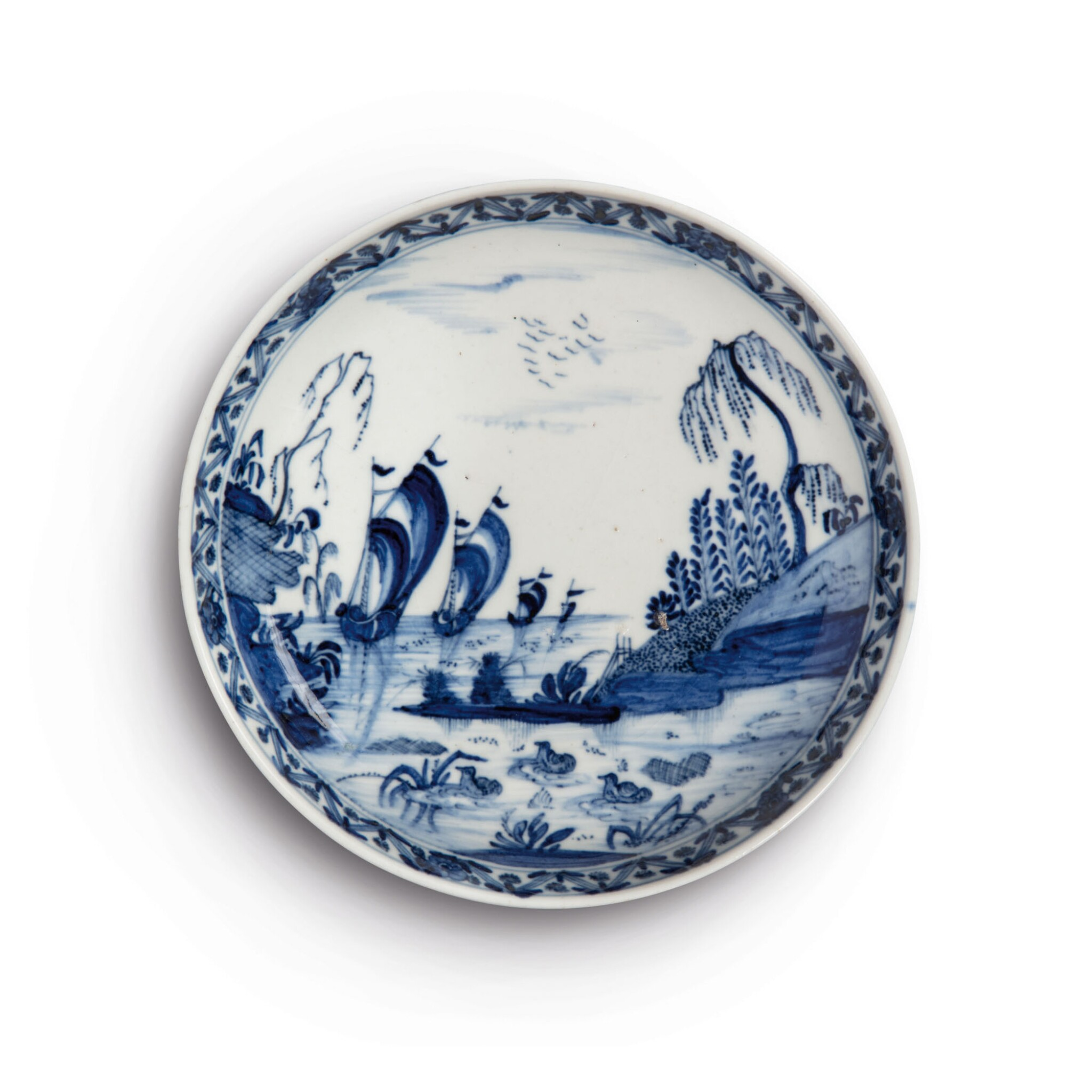View full screen - View 1 of Lot 392. A MEISSEN BLUE AND WHITE SAUCER DISH CIRCA 1721-22.