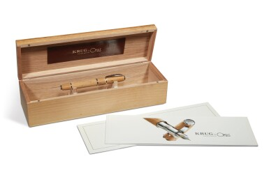 View 3. Thumbnail of Lot 106.  OMAS   A LIMITED EDITION OAK AND STERLING PLATED ROLLERBALL PEN, CIRCA 2004.