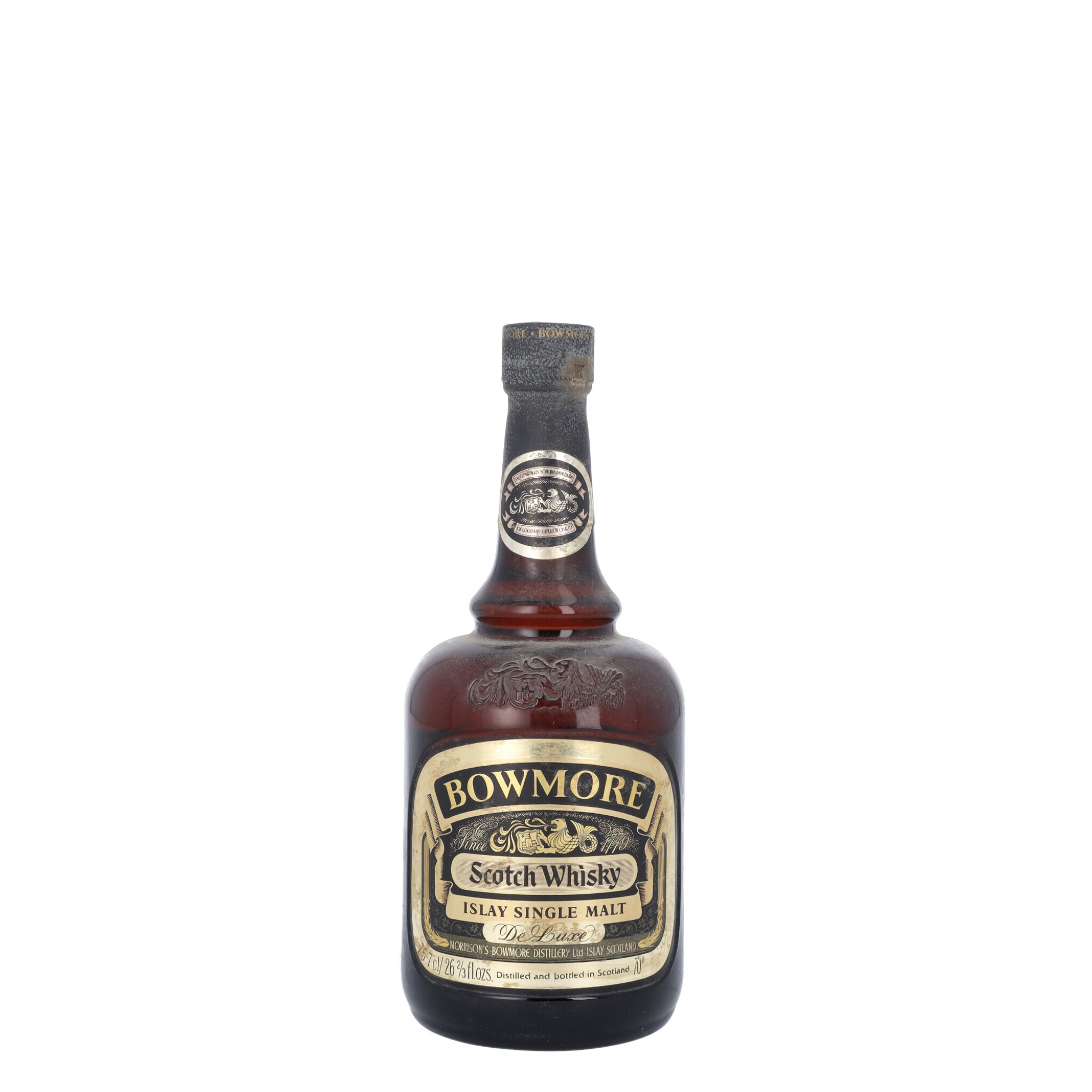 View full screen - View 1 of Lot 87. Bowmore De Luxe 40.0 abv NV (1 B757).