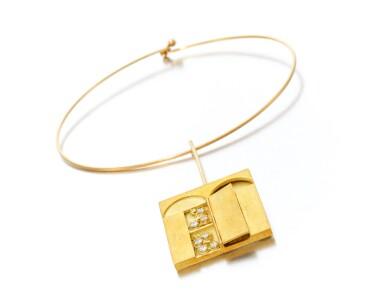 View 2. Thumbnail of Lot 124. Diamond necklace, Dimora (Collana con diamanti, Dimora).