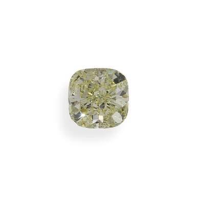 A 3.19 Carat Fancy Yellow Cushion-Cut Diamond, SI1 Clarity