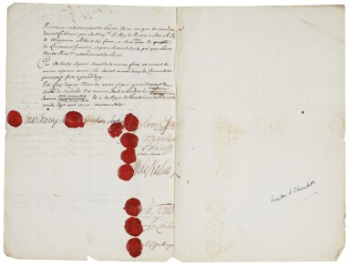 DUKE OF MARLBOROUGH   signed treaty, 1702, later signed by Sir Winston Churchill